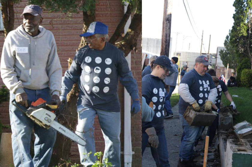 Volunteers with Rebuilding Together Dayton