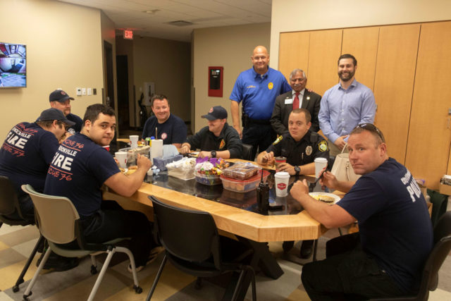 Dayton Realtors delivers a hot breakfast to police and fire personnel in Brookville.